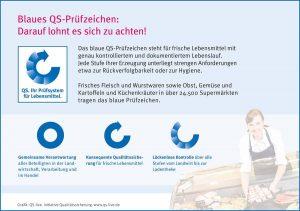 Das blaue QS-Prüfzeichen steht für strenge Kontrollen bei der Lebensmittelherstellung - vom Landwirt bis zur Ladentheke.