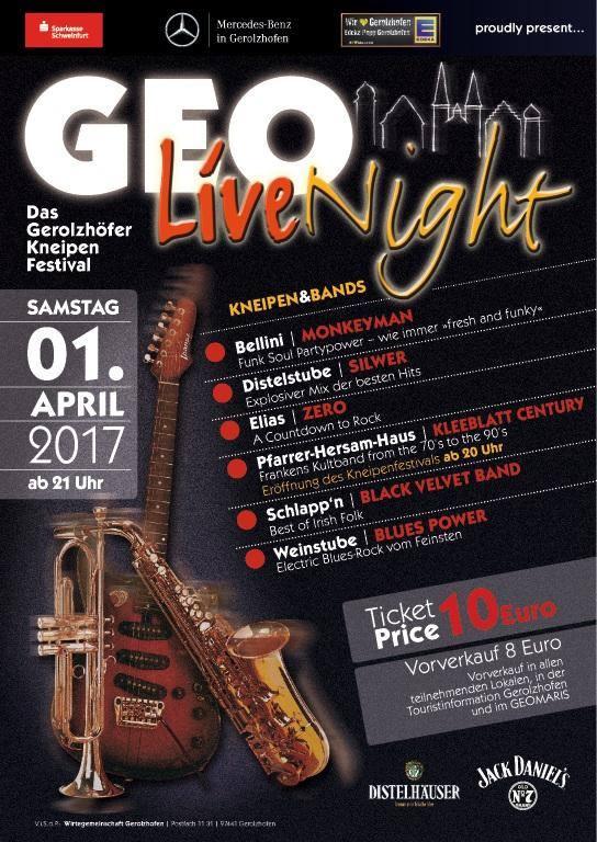 Geo Live Night Kneipenfestival Programm