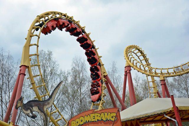 Boomerang Achterbahn im Freizeit-Land Geiselwind
