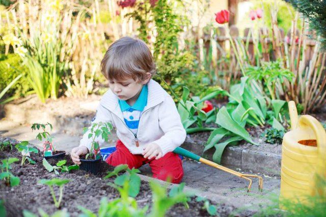 Foto: djd/Ferrero/thx Im eigenen kleinen Garten können Kinder experimentieren, entdecken und verstehen lernen, wie der Kreislauf der Natur funktioniert.