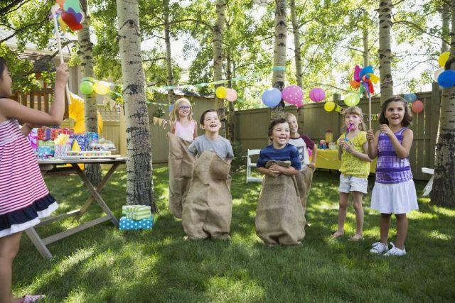 Der Garten ist der ideale Platz für Kinderfeste - hier kann man ungestört toben.