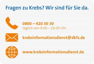 Der Krebsinformationsdienst ist per Telefon, E-Mail und im Internet zu erreichen.