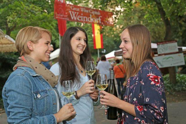 Weine aus hessischen Lagen werden in zahlreichen Weindörfern zum Verkosten angeboten.