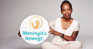 """Shary Reeves setzt sich als Kampagnenbotschafterin für """"Meningitis bewegt."""" ein."""