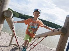 Ein Ausflug zum Ellertshäuser See, dem größten See Unterfrankens mit Sandstrand, Wasserspielplatz, Klettergarten und Naturerlebnisweg, darf auf dem Urlaubsprogramm nicht fehlen.
