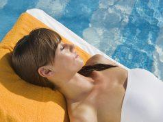 Vorsicht Sonnenbrand: Durch die Reflexion des Wassers fällt die Sonneneinstrahlung intensiver aus.