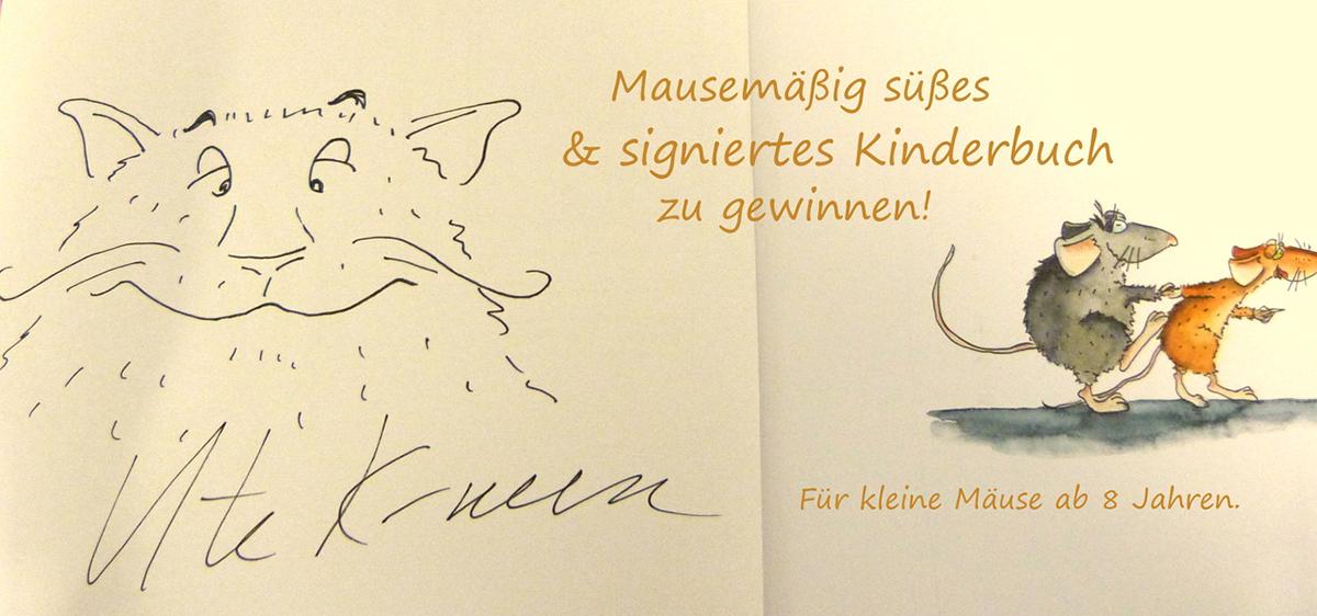 """Gewinnen Sie eine von Ute Krause signierte Ausgabe des Kinderbuches """"Die Muskeltiere und Madame Roquefort"""""""