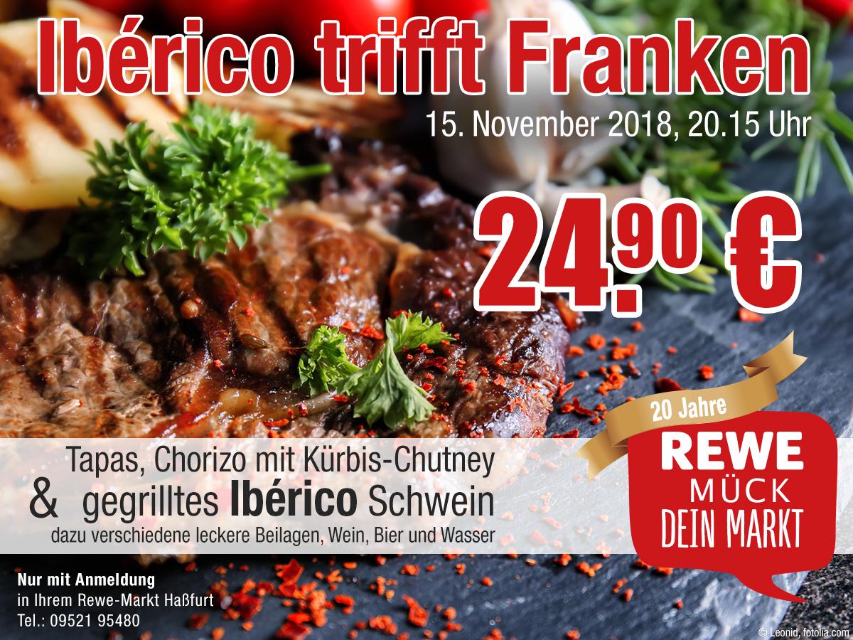 Iberico trifft Franken im REWE Mück in Haßfurt