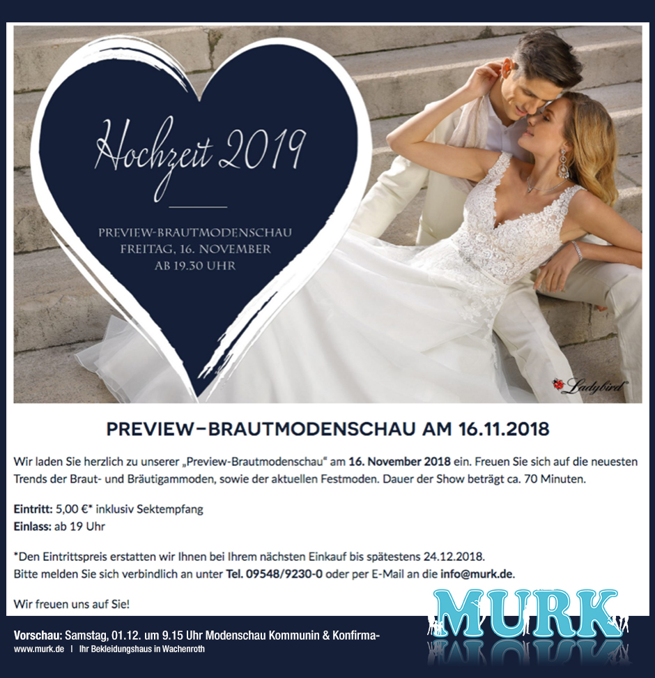 Hochzeitstrends 2019 bei Murk