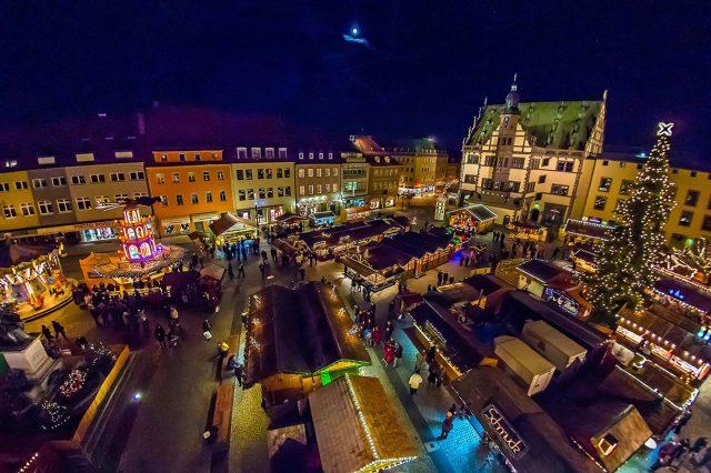 Der Schweinfurter Weihnachtsmarkt. Foto: Anand Anders/Tourist-Information Schweinfurt 360°