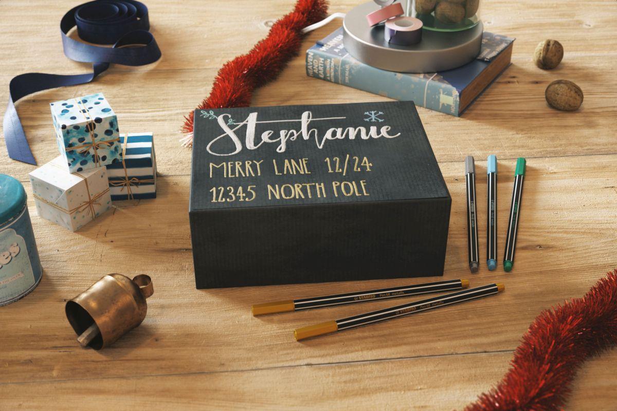Auch um Präsente individuell zu verzieren, sind die neuen Stifte mit den metallischen Farbnuancen sehr willkommen.