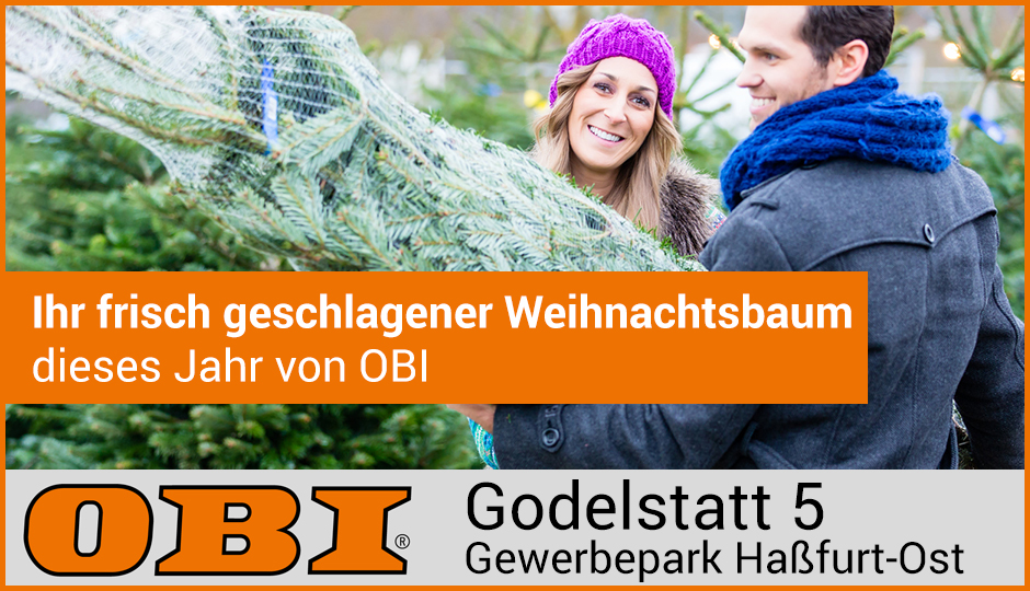 Weihnachtsbaumverkauf OBI Haßfurt