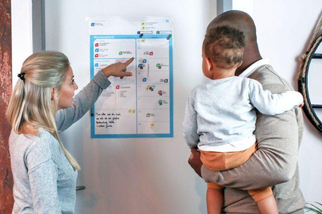 Eine gute Wochenplanung hilft einer Familie, das wirklich Wichtige im Auge zu behalten.