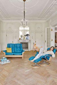 Ledermöbel bleiben wegen ihrer glatten Oberfläche in manchen Haushalten von Hund oder Katze verschont.
