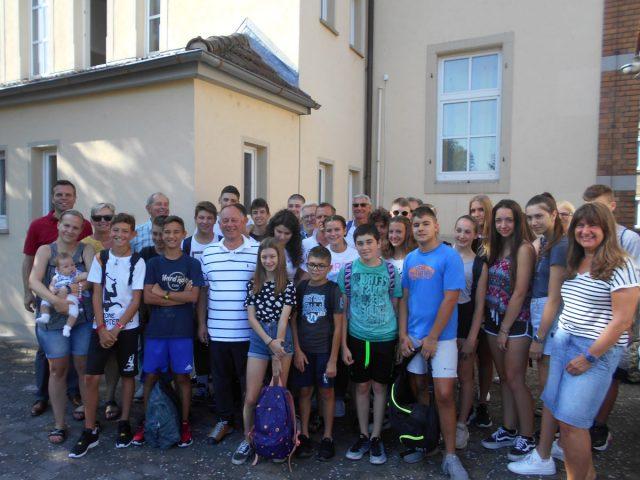Bürgermeister Oliver Schulze lud die Delegation aus Meduna di Livenza zu einem Empfang in den Bürgersaal