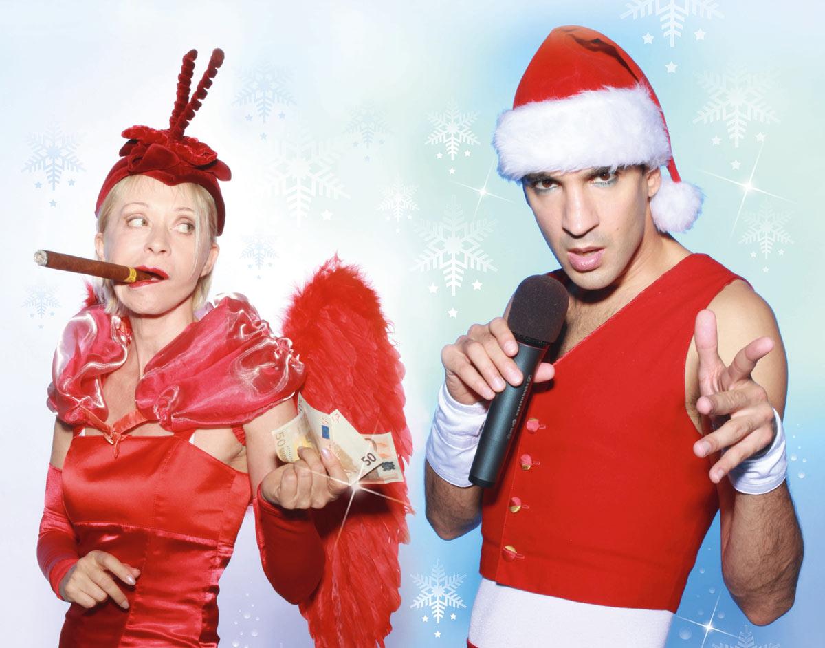 Schwarzblonde Weihnachten. Foto: Disharmonie Schweinfurt