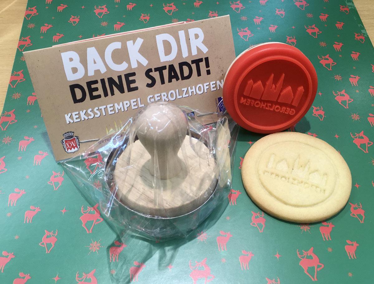 Gerolzhofen eigener Keksstempel. Foto: Daniel Hausmann