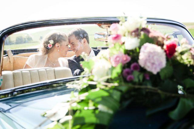Hochzeitsauto Autodeko