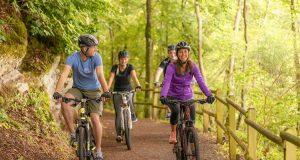 Mountainbiking: Schwung holen und anspruchsvolle Strecken meistern: Mountainbiking fordert den ganzen Körper. Wichtig ist daher eine gute Regeneration nach dem Training.