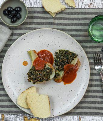 Fenchel mit Olivenkruste