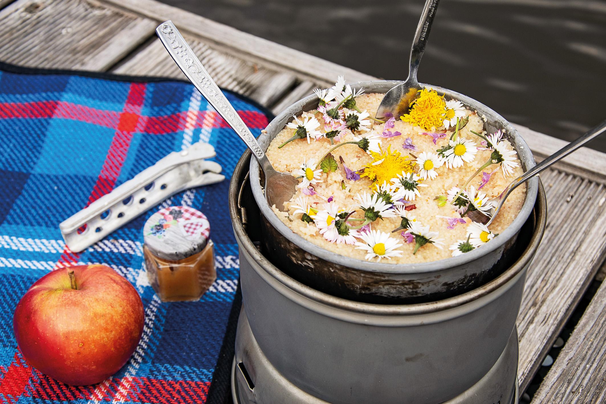 Wildkräuter Küche Couscous