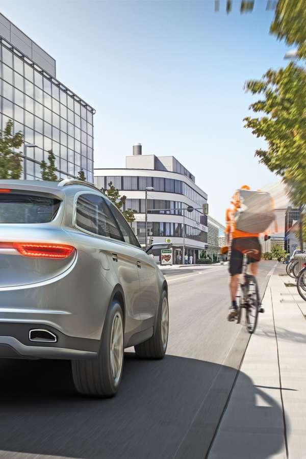 Sicherheit: Fußgänger und Radfahrer sind im Straßenverkehr besonders gefährdet. Fahrerassistenzsysteme, die diese Personengruppen schützen, werden daher ab 2022 zur Serienausstattung von Fahrzeugen in der EU.